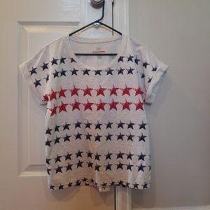 Patriotic Stars Style & Co Lightweight Sweatshirt
